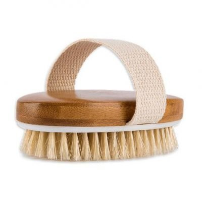 Bamboo Body Dry-Brush for Exfoliation and Immunity